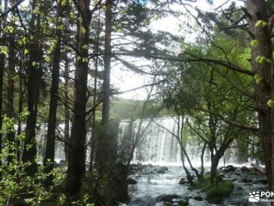 RETO Senderista,Valle Lozoya; vacaciones puente de diciembre santillana madrid crampones y piolet